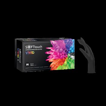 Soft Touch Vivid Γάντια Νιτριλίου, μαύρο - χωρίς πούδρα 100τμχ.