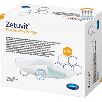Αυτοκόλλητο Επίθεμα Zetuvit® Plus Silicone Border 10x10cm 10τεμ.