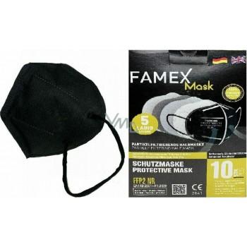Famex Particle Filtering Half Mask FFP2 NR 1τμχ. ΜΑΥΡΟ