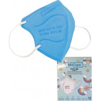 Παιδική Μάσκα FFP2 NR - Γαλάζια χωρίς βαλβίδα, MHCare 1τεμ.